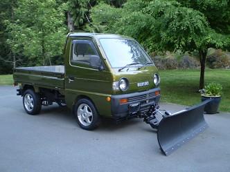 Suzuki Carry Mini Truck Snow Plow