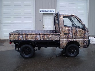 1992 suzuki carry 4x4 lifted camo truck. Black Bedroom Furniture Sets. Home Design Ideas